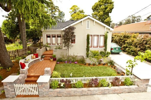 Total Yard Makeover On A Microscopic Budget House Exterior Hardscape Design Yard Before And After