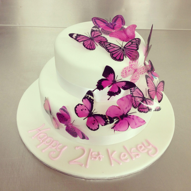 2 Tier Butterfly Cake