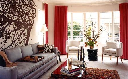 cortinas navideas buscar con google - Cortinas Rojas
