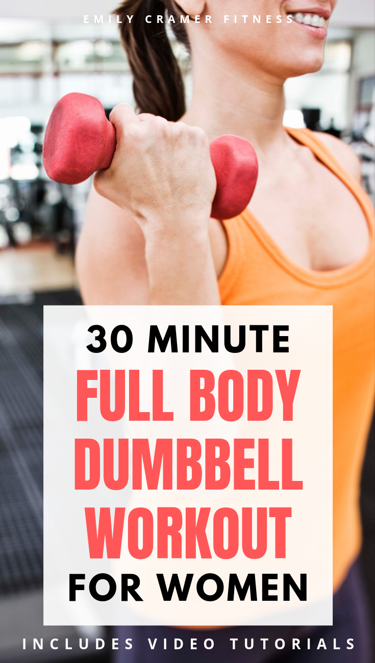 30 Minute Full Body Dumbbell Workout for Women #dumbbellexercises