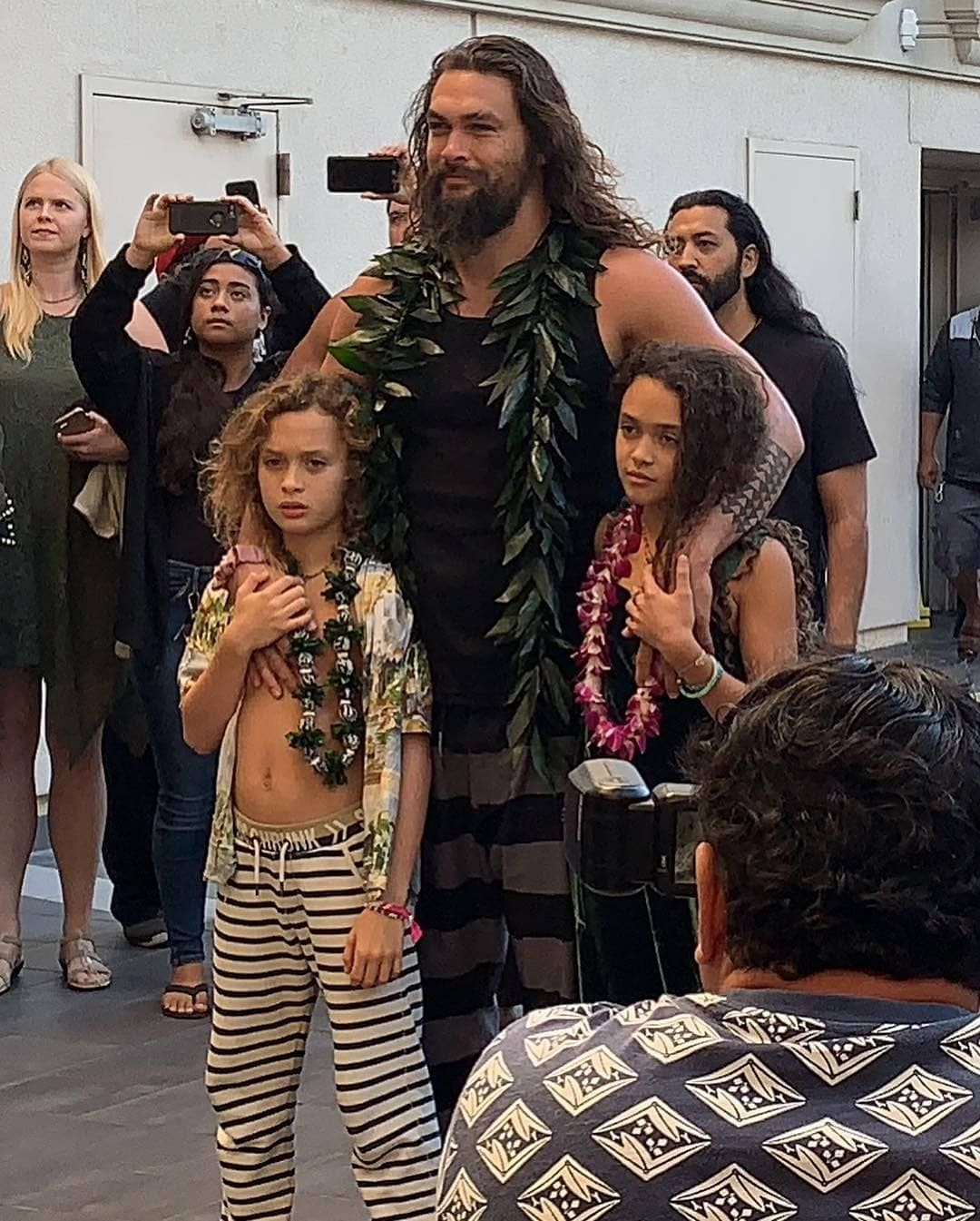 Jason Momoa Shares An Emotional Moment With His Children