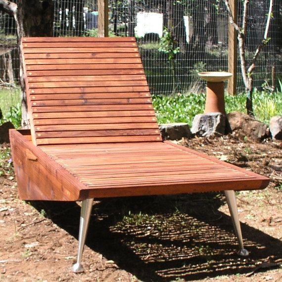 Mid Century Modern Chaise Lounge Chair. Redwood Patio Furniture, Eames  Lounge Chair, Mid Century Patio Furniture
