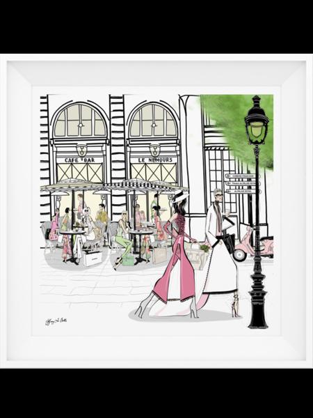 Cafe Le Nemours Paris Illustration Limited Edition Print In 2020 Paris Illustration Limited Edition Prints
