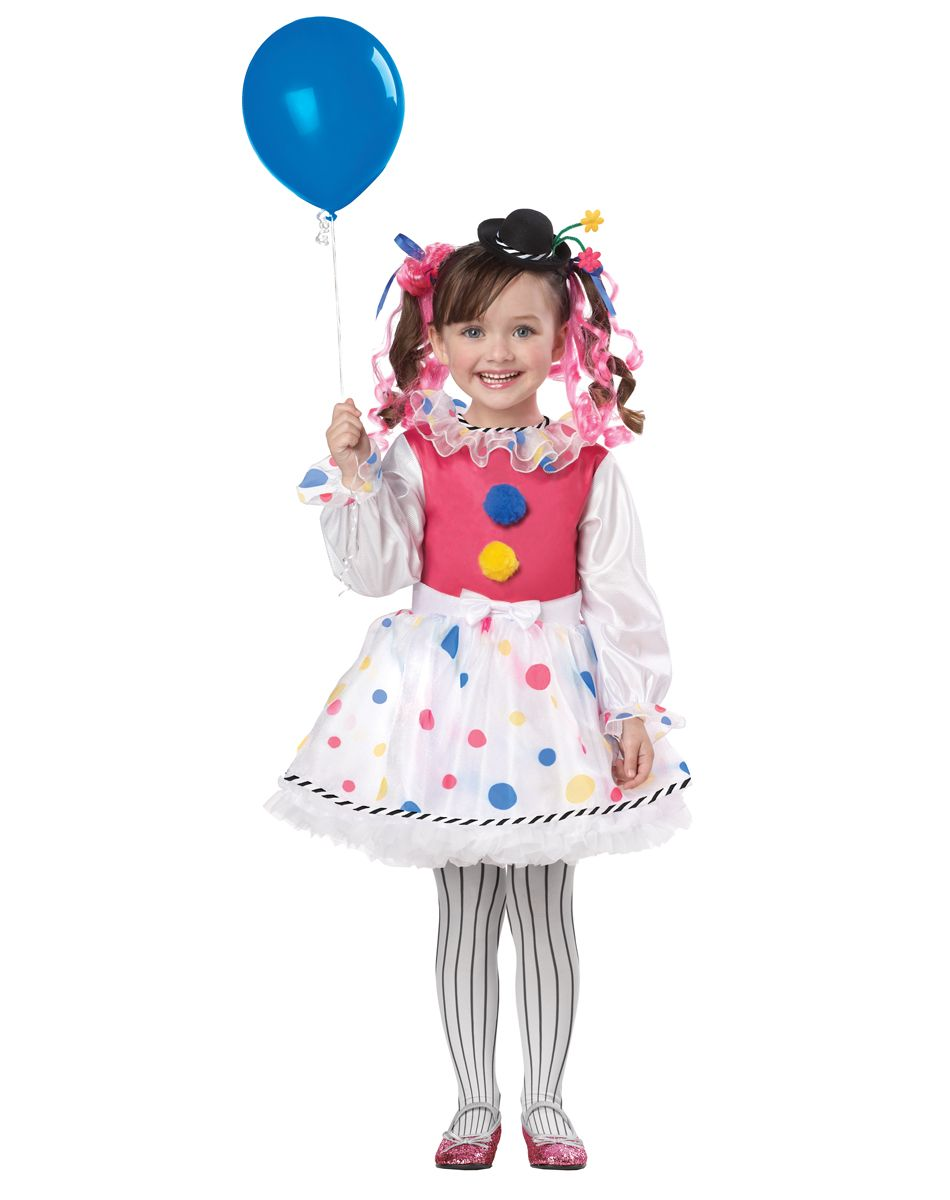 this toddler cutsie clown costume is a fun halloween costume idea for little girls great alone or as part of a group with some of our other clown costumes - Girl Clown Halloween Costumes