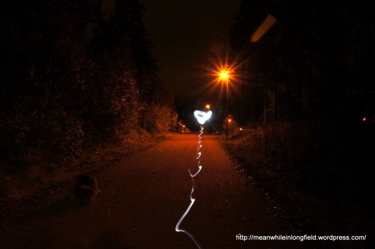 valomaalaus, light painting