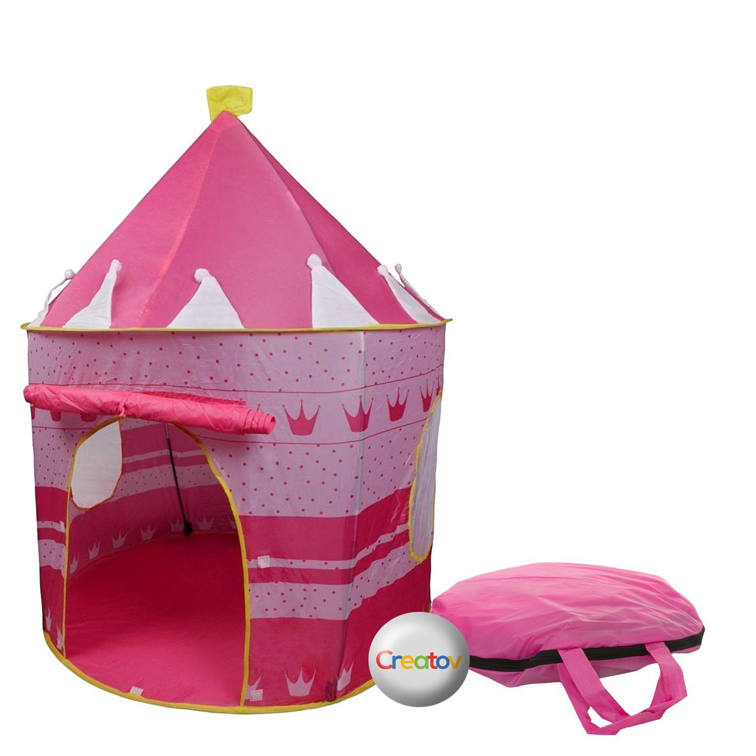 Children Play Tent Girls Pink Castle for Indoor/Outdoor Use With Glow in the Dark Stars Foldable with Carry Case - Creatov. OUR PLAY TENTS ARE 100% SAFE FOR ...  sc 1 st  Pinterest & Children Play Tent Girls Pink Castle for Indoor/Outdoor Use With ...