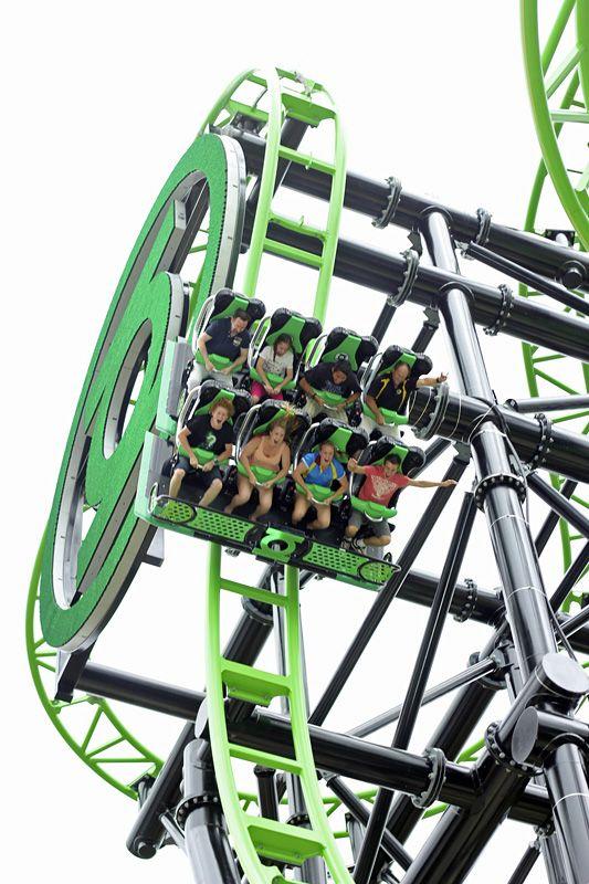 Green Lantern Rollercoaster Warner Bros Movie World Australia