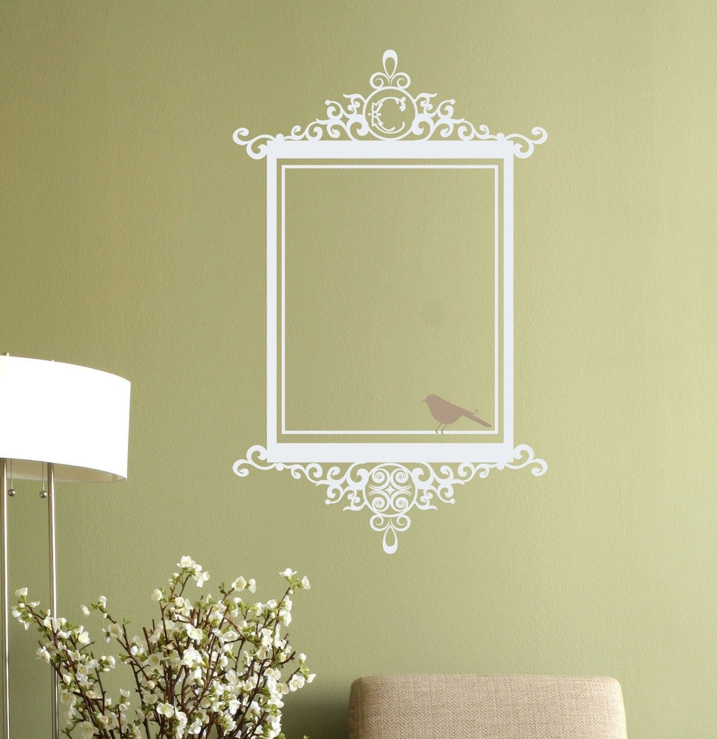 scroll frame decal | Antique Scroll Frame | Art | Pinterest | Wall ...