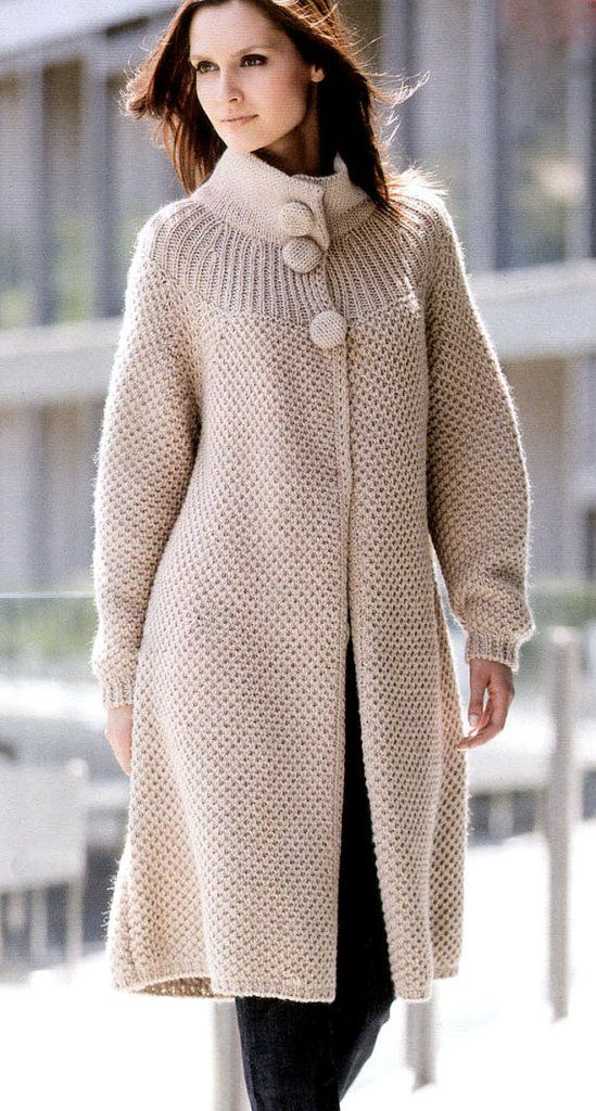Womens Hand Knit Wool Coat 25f Knitting For Women