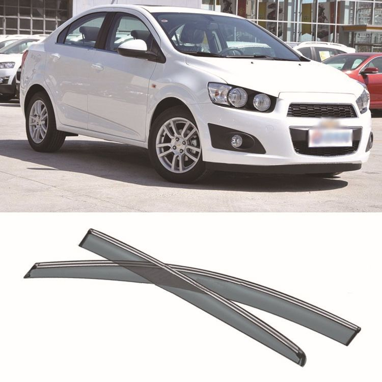 4pcs Blade Side Windows Deflectors Door Sun Visor Shield For Chevy Aveo 2011 2013 Window Deflectors Exterior Accessories Chevy