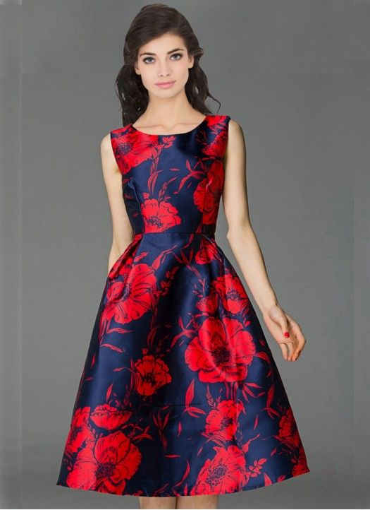 a77646190a Designer Blue & Red Colour Taffeta Silk Western Wear Cute Dresses,  Beautiful Dresses,