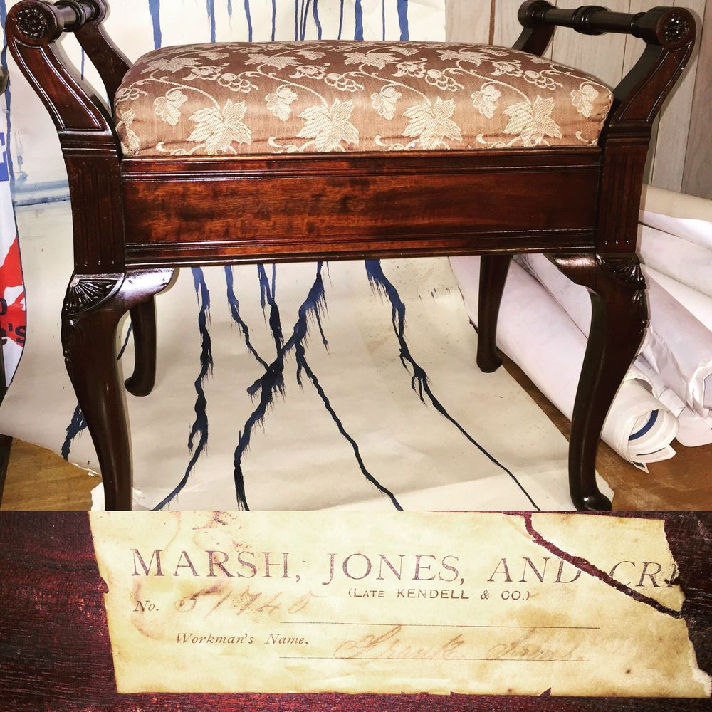 Marsh Jones and Cribb Piano Stool High Quality Antique Mahogany Labelled Kendell : piano stool parts - islam-shia.org