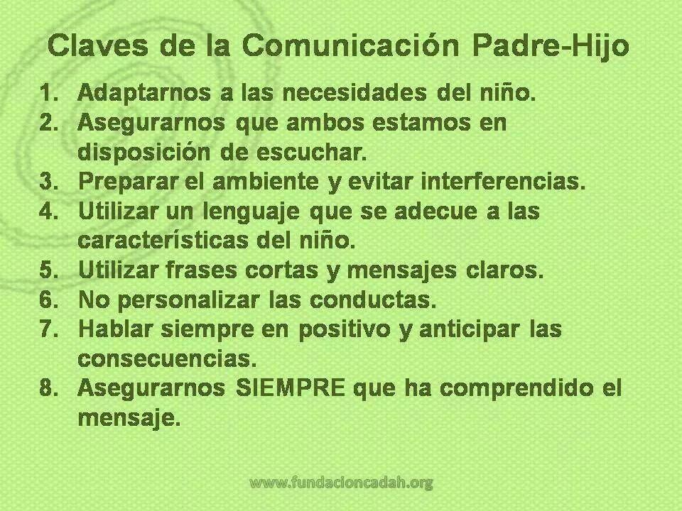 Estas claves para la comunicacion entre padres e hijos aplican tambien para  el entorno escolar | Educacion, Psicologo infantil, Frases cortas