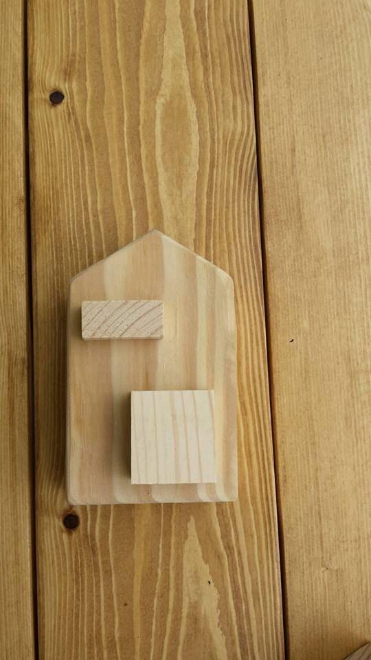 Pleasing Solid Wood Block House With Door Window 3 5X5 75 Craft Home Interior And Landscaping Mentranervesignezvosmurscom