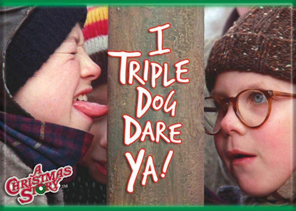 A christmas story triple dog dare refrigerator