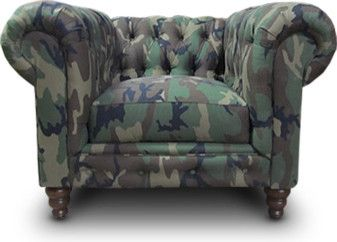 Cute Camo Chesterfield Chair   Good For Manly Office