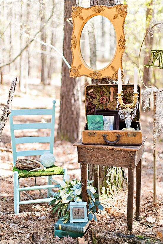 Romantic Forest Wedding Inspiration | Forest wedding, Barn ...