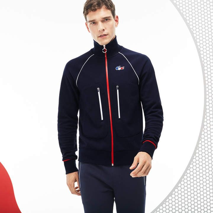 5e662480 Lacoste Men's French Sporting Spirit Edition Zippered Fleece ...