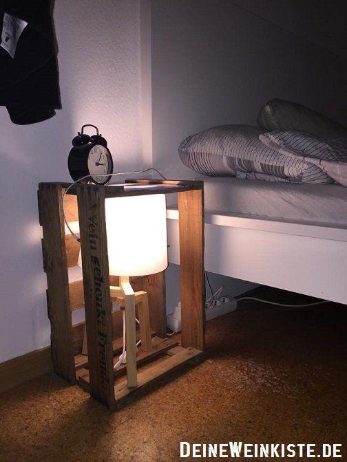 Weinkiste Nachttisch weinkiste mit anti holzwurm wärmebehandlung als nachttisch mit