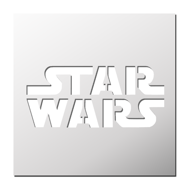 Pochoir star wars boutique pochoirs stickers pinterest - Pochoir star wars ...