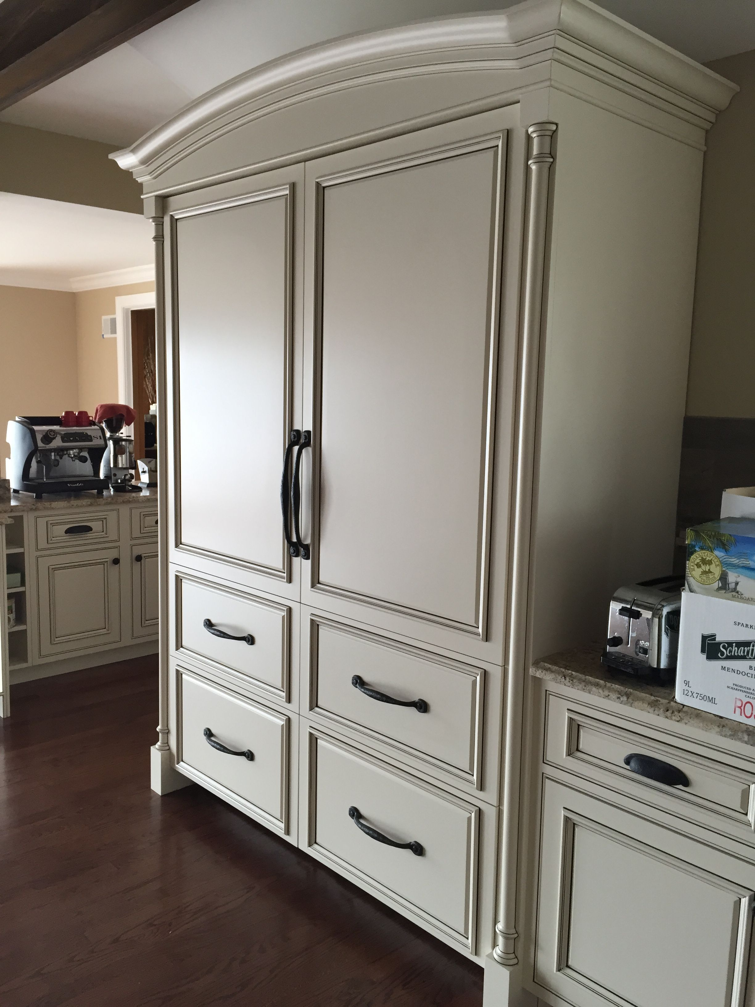 Kitchen with Hickory Hardware Rustic Iron oversized pulls. Comes in ...