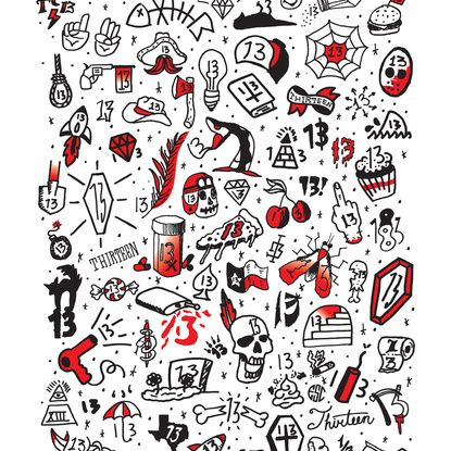 Friday the 13th Tattoo Flash Art Print | Flash tattoos | Pinterest ...
