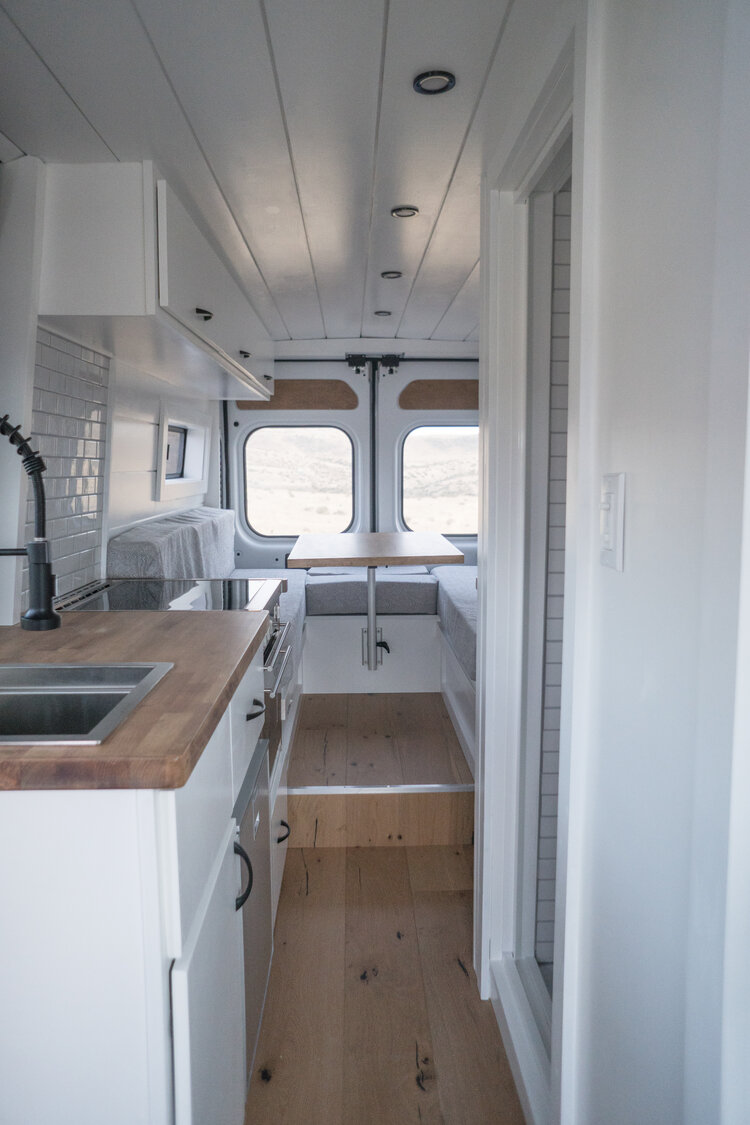 Photo of VAN TOUR | 159″ Extended Promaster Van Conversion with Bathroom — Sara & Alex James – 40 Hours of Freedom