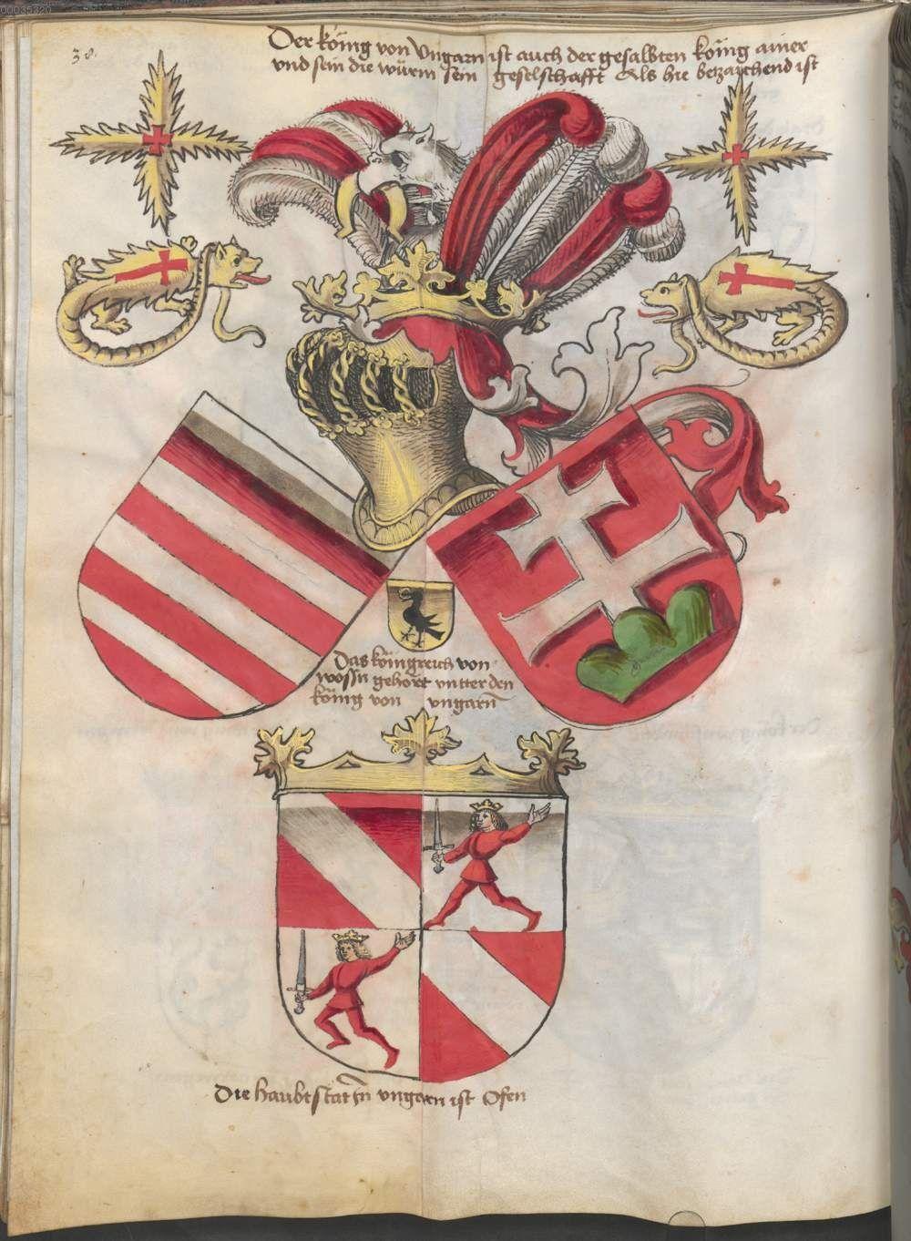 Grünenberg, Konrad: Das Wappenbuch Conrads von Grünenberg, Ritters und Bürgers zu Constanz um 1480 Cgm 145 Folio 43