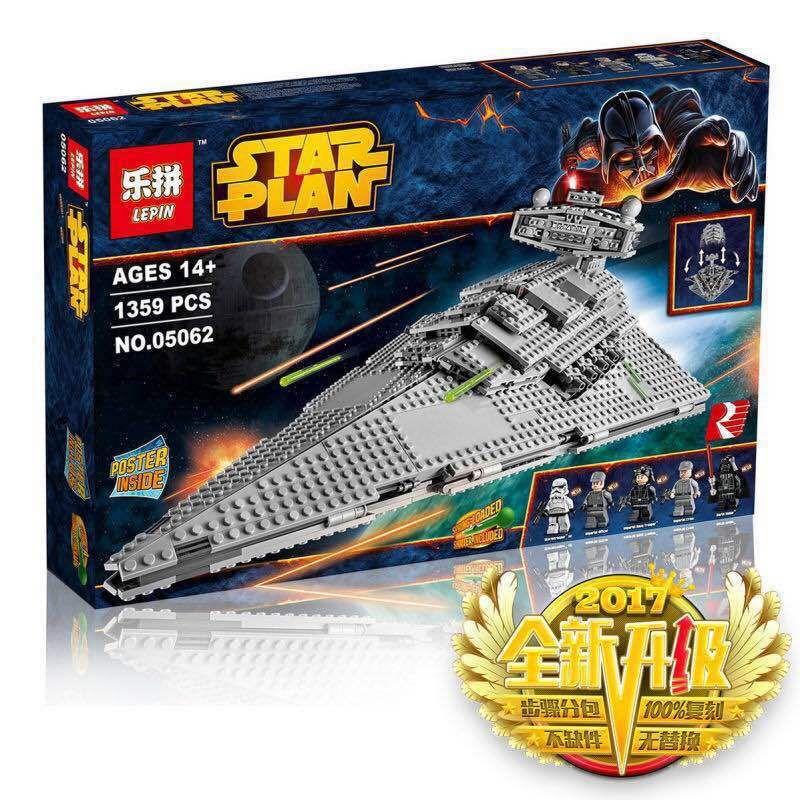 05062 Serie Star El Destructor Estelar Imperial Super Conjunto Educativos Building Blocks Ladrillos Compatible Juguete  75055