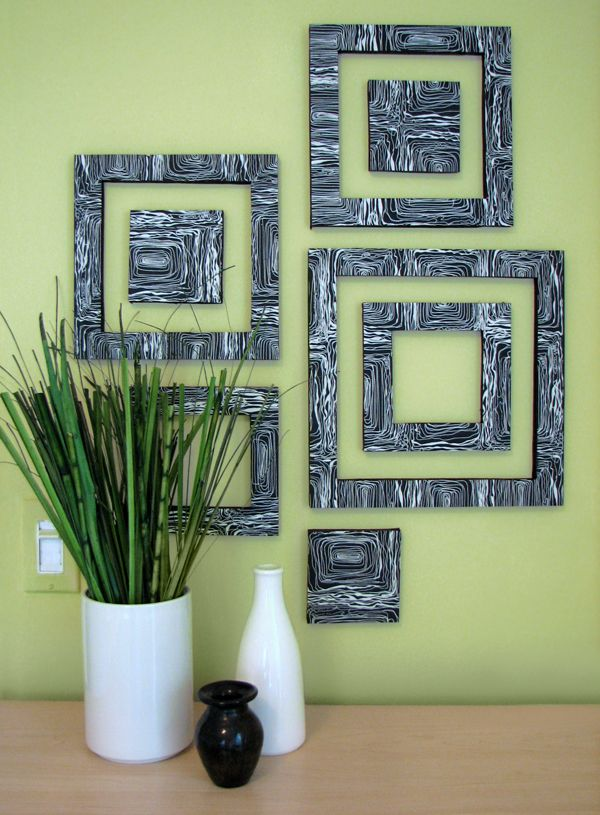 Diy Patterned Wall Squares Wandkunst Ideen Selbstgemachte