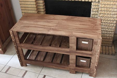 Meuble Rangement Palette Decor Coffee Table Storage Bench