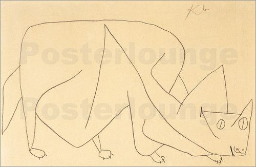 Paul Klee Lurking Cat Paul Klee Deutsche Kunstler Und Poster