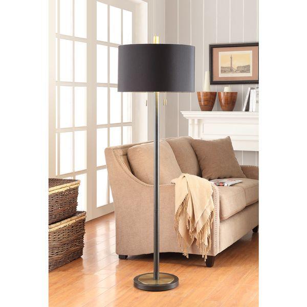 Gold foil lined 2 light floor lamp overstock shopping great gold foil lined 2 light floor lamp overstock shopping great deals on aloadofball Image collections