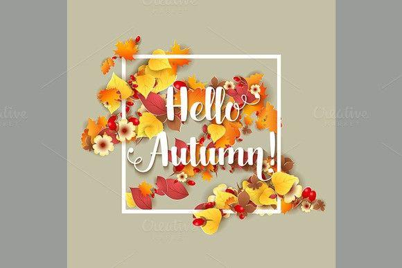 Hello Autumn Background.. Illustrations. $4.00