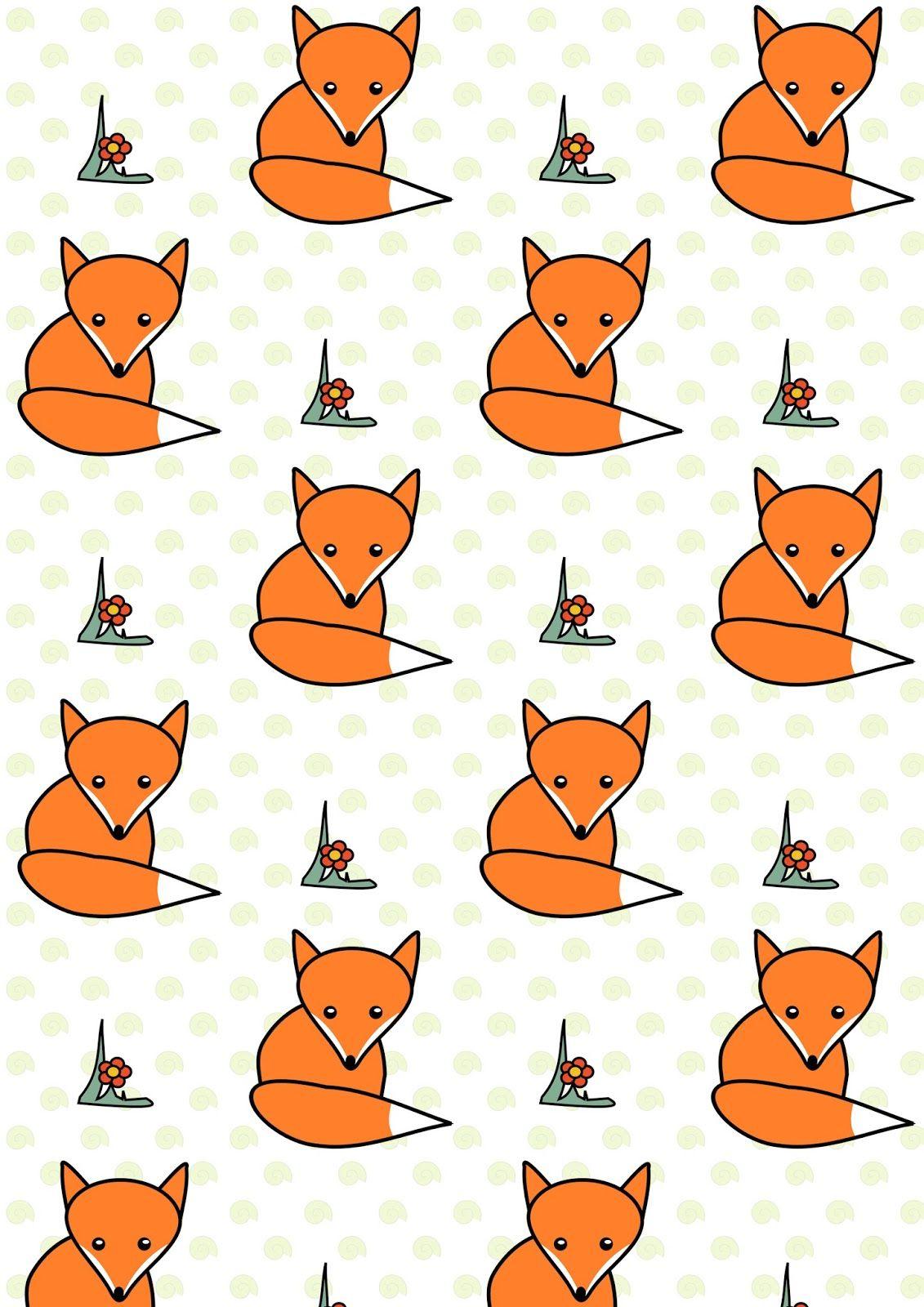 Free Digital Woodland Fox Scrapbooking Paper