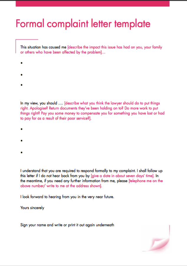 Formal Complaint Letter Template  HttpResumesdesignComFormal