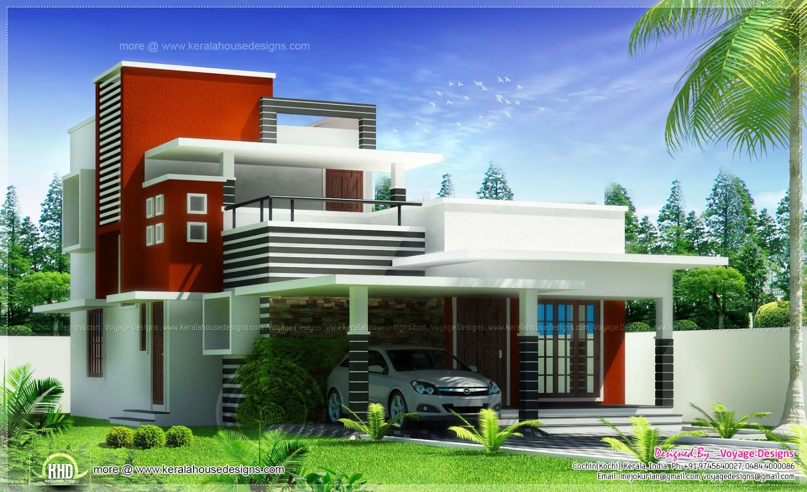 Kerala house designs architecture pinterest kerala for Contemporary style home plans