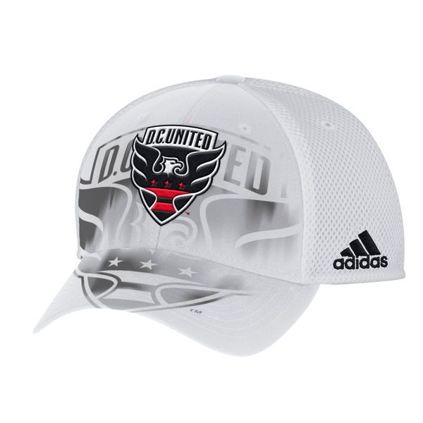 Men s D.C. United adidas White Sublimated Mesh Structured Adjustable ... e150362122e6