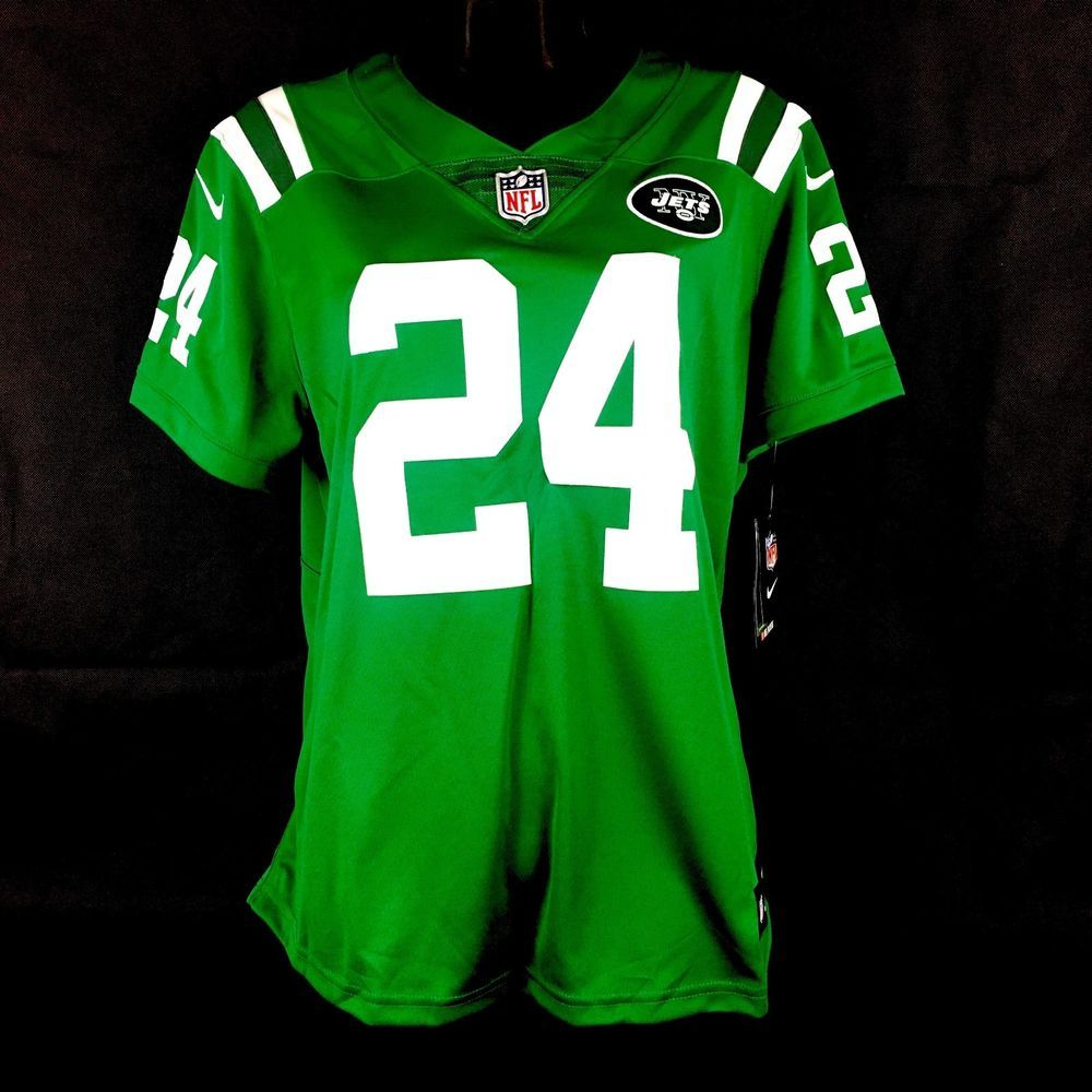 d1d72b605 Nike Darrelle Revis Jets Stitched Limited ColorRush OnField Womens Jersey  Size L (eBay Link)
