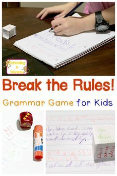 Kids hate grammar rules? Let them break them all in this grammar game where the goal is to break all the grammar rules. Fun grammar games for the win!