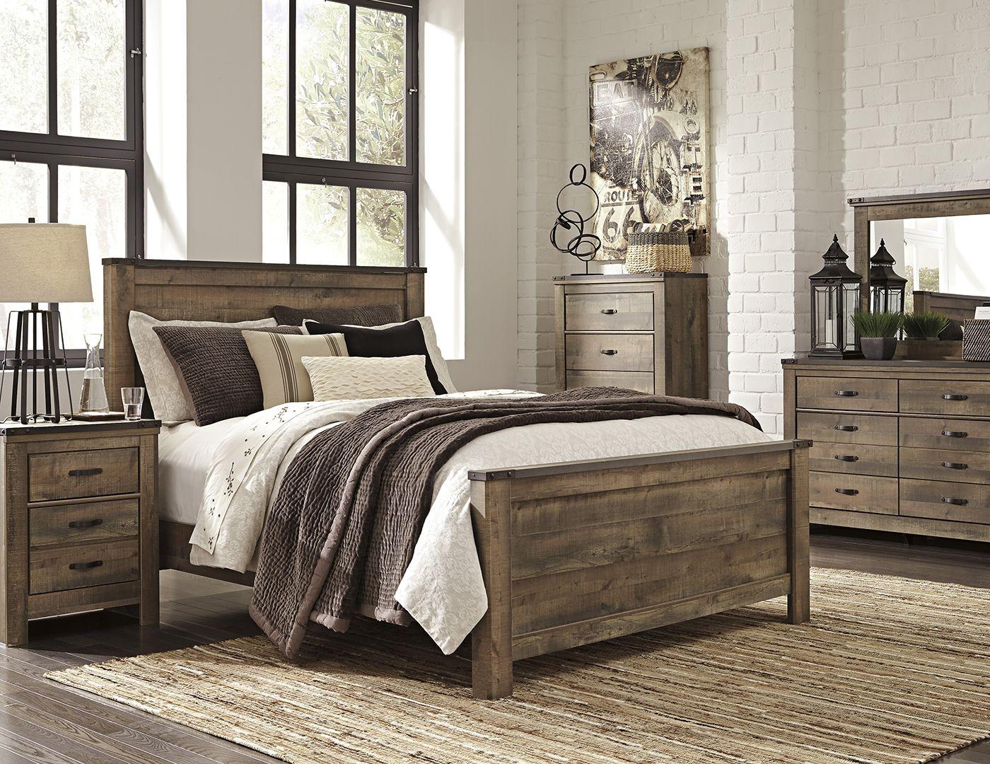 trinell king panel bed in 2018 master bedroom pinterest rh pinterest com Farmhouse Dresser white farmhouse king bedroom set