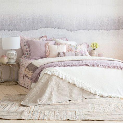 Patchwork Teppich In Rosa Teppiche Schlafen Zara Home