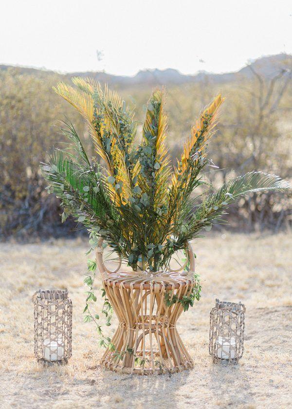 boho wedding decor - photo by Jennifer Fujikawa Photography http://ruffledblog.com/desert-bloom-wedding-inspiration