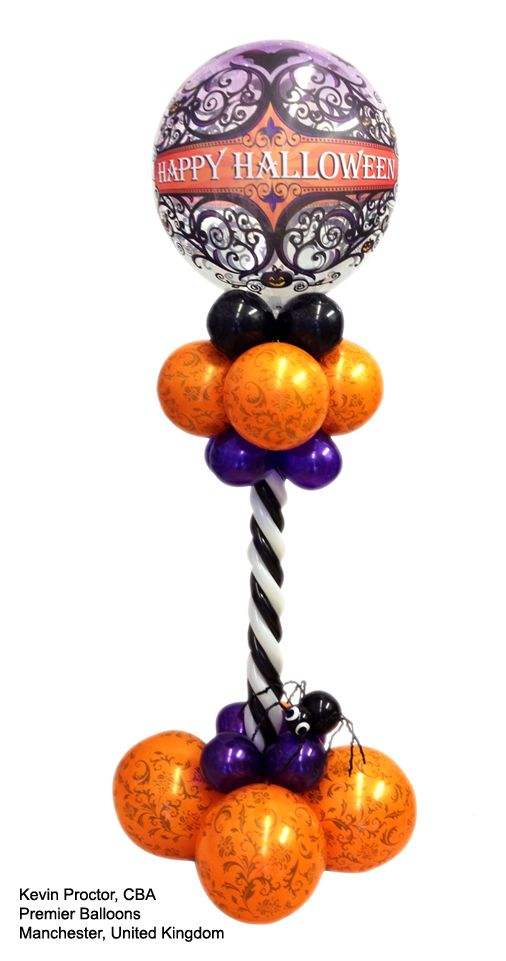 Happy halloween mylar balloon it 39 s a party pinterest for Balloon decoration for halloween