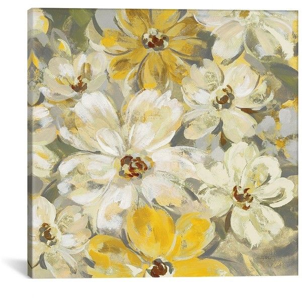 Scattered Spring Petals Canvas Art Print (€84) ❤ liked on Polyvore ...