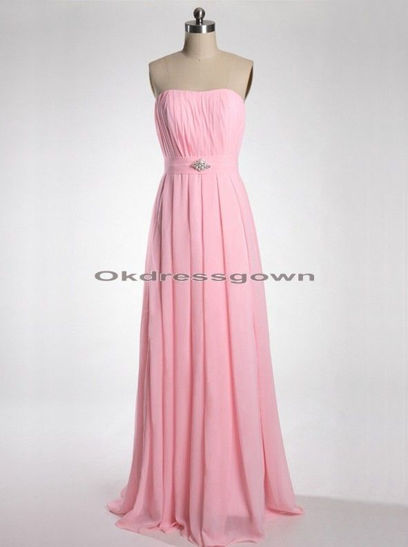 952497def8 Pink Formal Dresses For Juniors | Strapless Chiffon Junior Popular Simple Hot  Pink prom dress under 150
