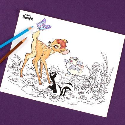 Bambi Coloring Page | Ephemera | Disney, Coloring pages, Disney family