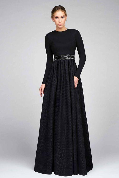 fde2f3902bc1 Ieena for Mac Duggal - 25295 Full Sleeve Gown In Black