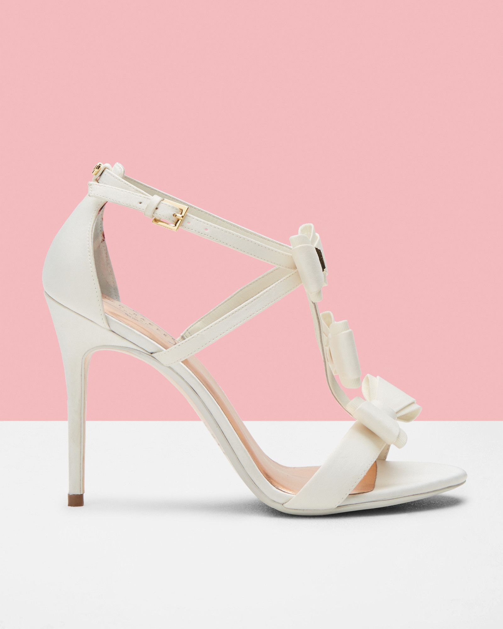 Triple bow detail sandals - White | Shoes | Ted Baker UK | Head over ...