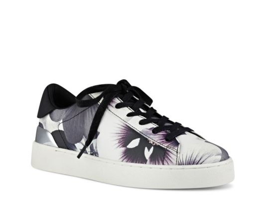Women's Nine West Palyla Floral Sneaker - Black/White Floral